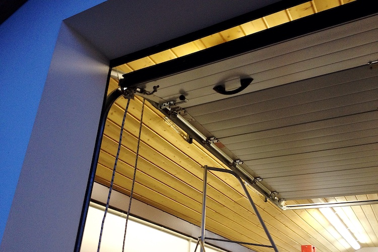 Open garage door after opener was repaired in Perth Wester Australia