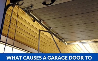 What causes a garage door to stop working?